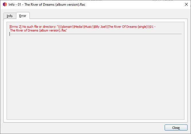 pic error message